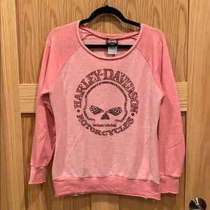 Harley-Davidson Pink Crew Sweatshirt